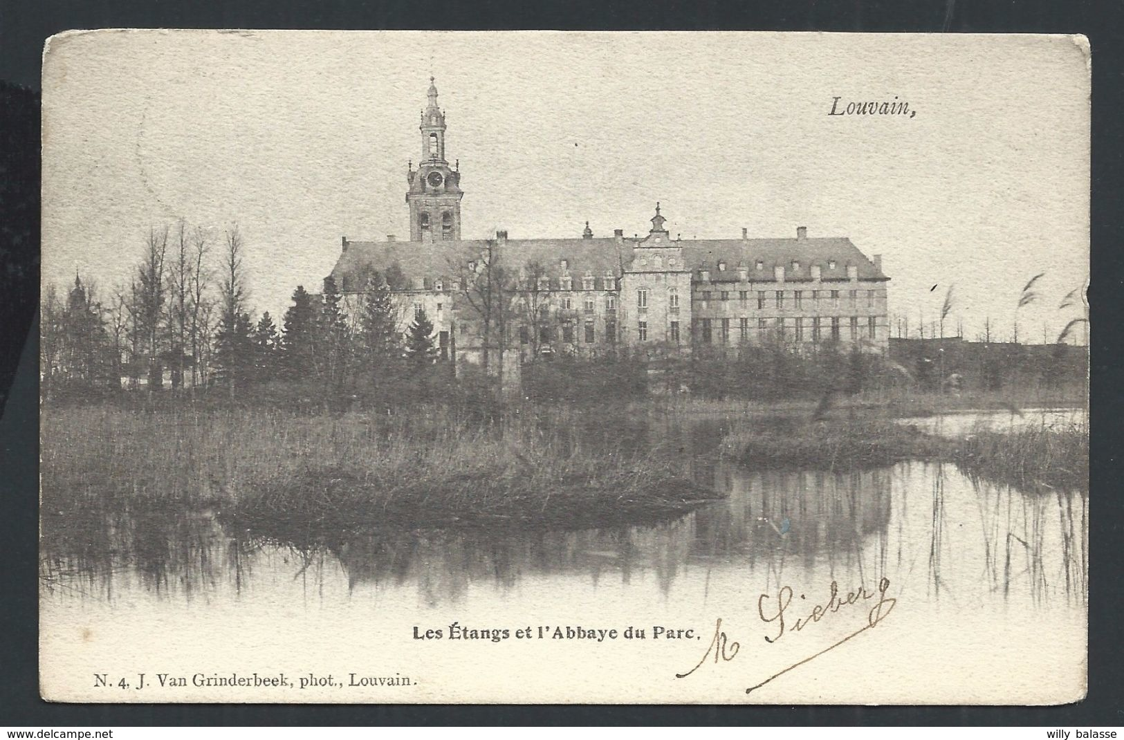 +++ CPA - LEUVEN - LOUVAIN - Les Etangs Et L'Abbaye Du Parc - Cachet Relais ROTSELAER   // - Leuven