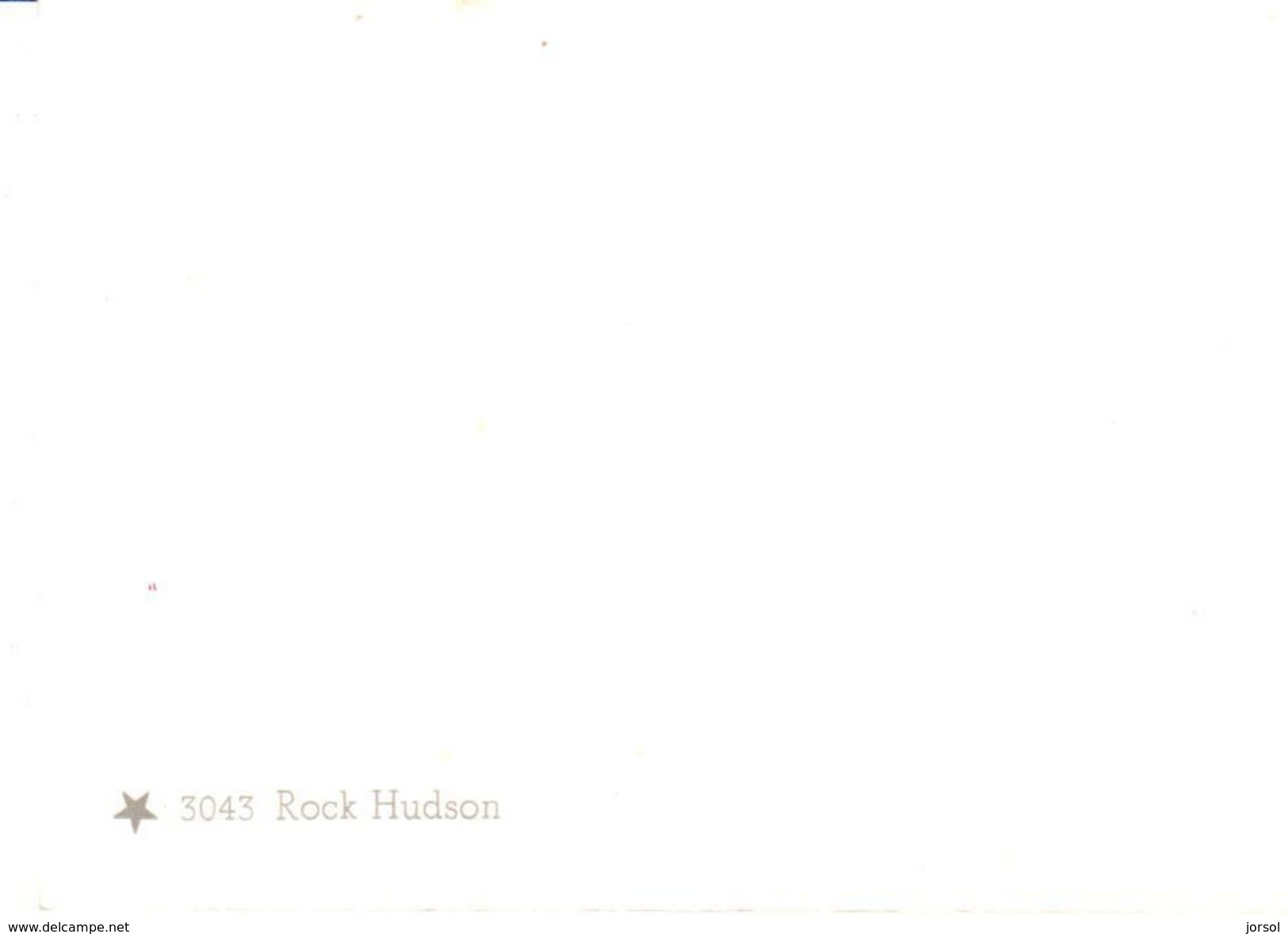 POSTAL    EL ACTOR ROCK HUDSON - Fotografía