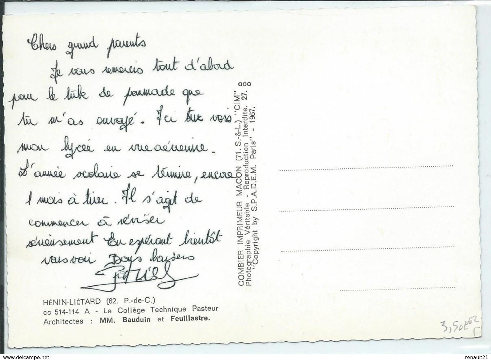 Hénin-Liétard-Le Collège Technique Pasteur (CPSM) - Henin-Beaumont