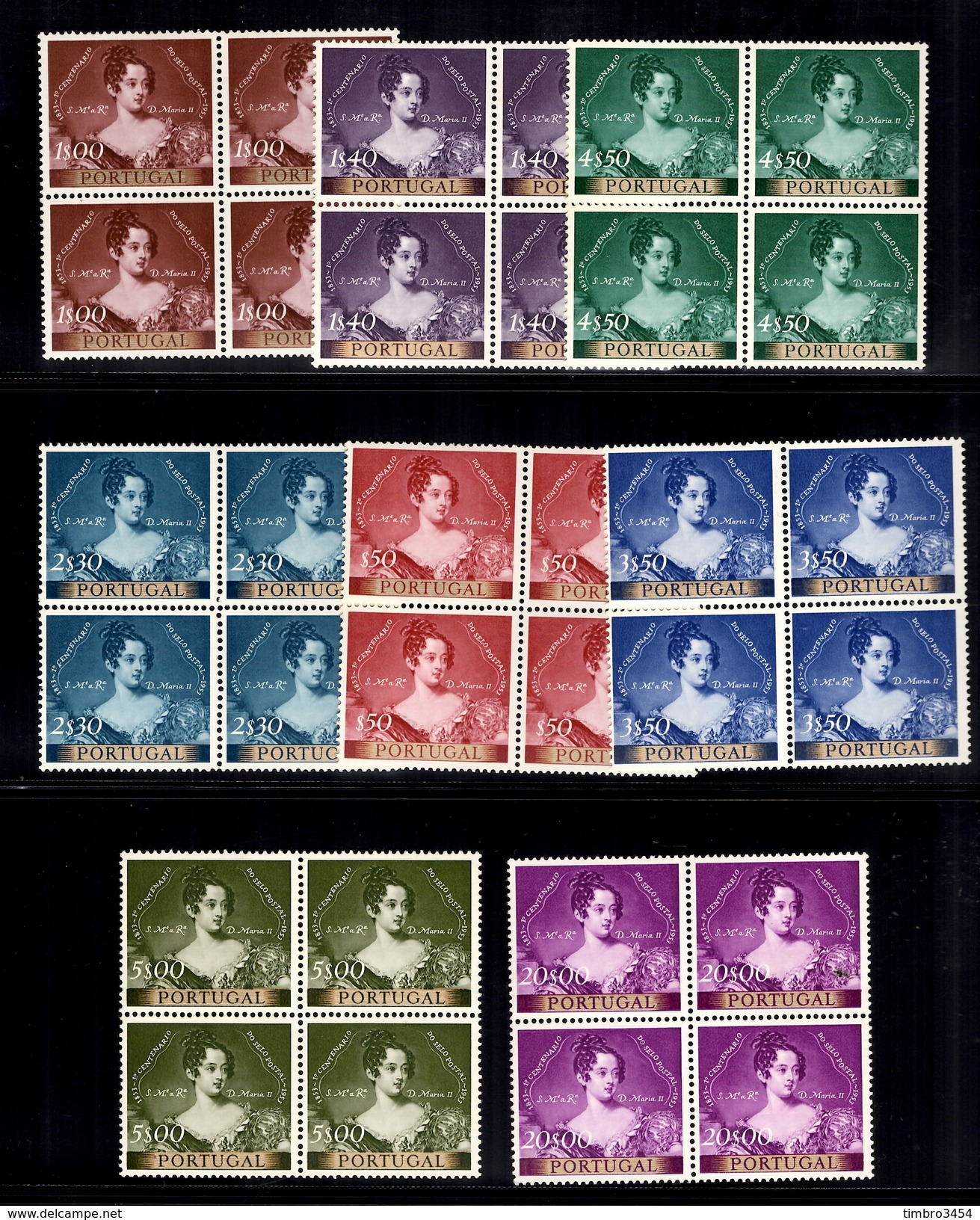 Portugal YT N° 797/804 En Blocs De 4 Neufs ** MNH. TB. A Saisir! - 1910-... Republic