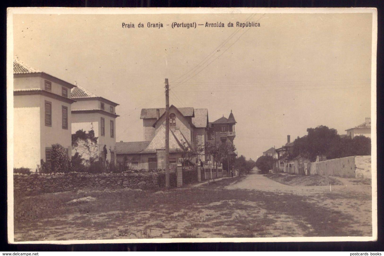 Postal Fotografico Da PRAIA Da GRANJA - Avenida Da Republica - VILA NOVA De GAIA - Old Postcard (PORTO) Portugal - Porto