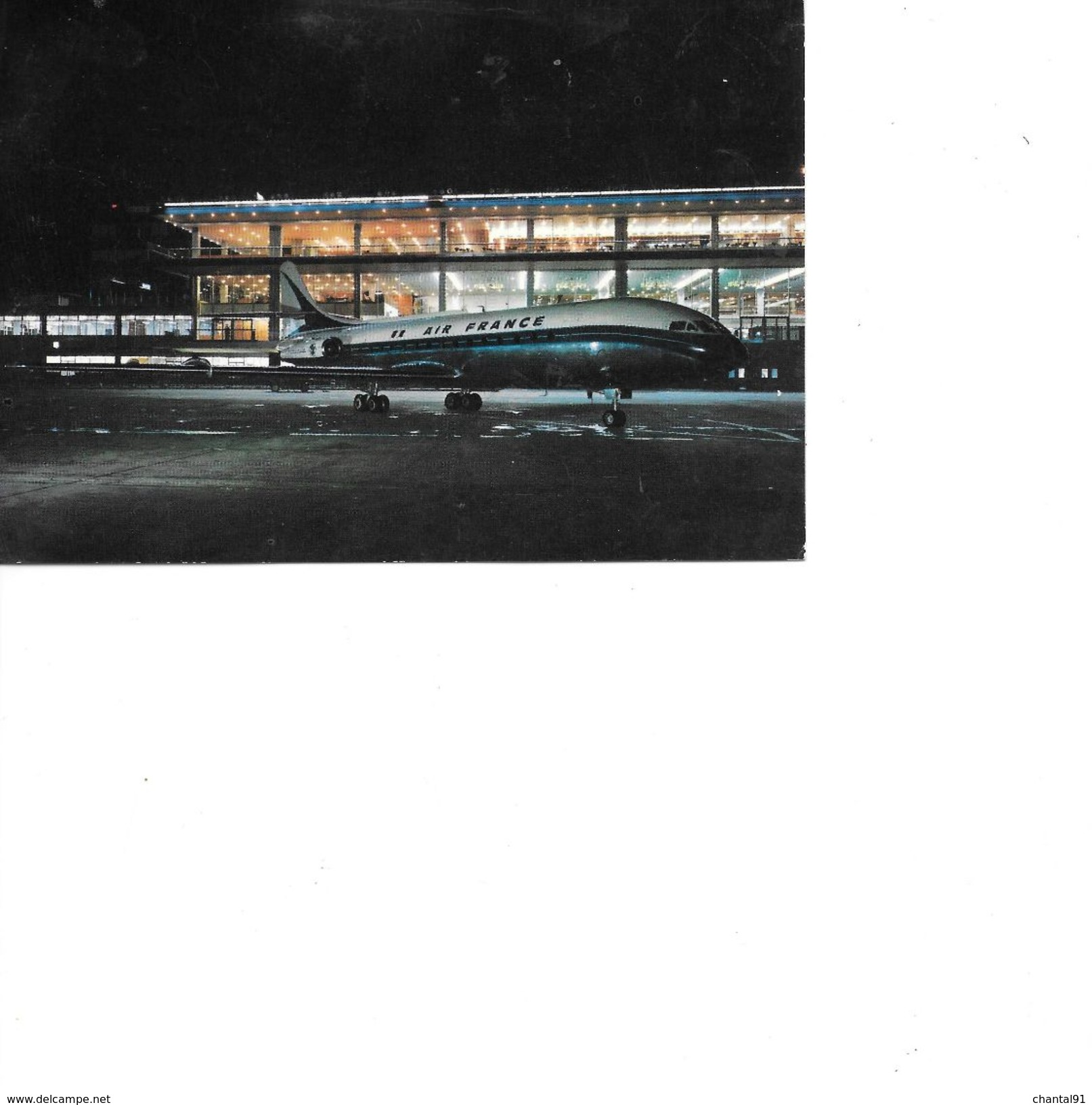 CARTE POSTALE FANTASIE AVION CARAVELLE - Avions