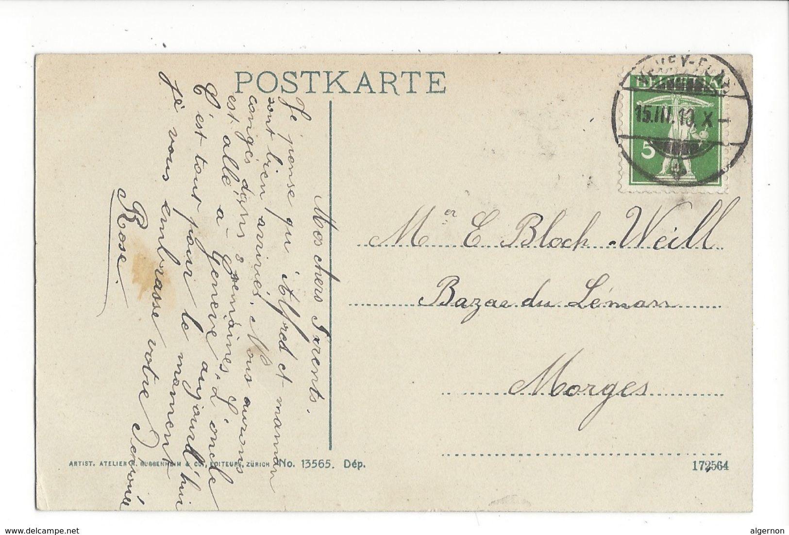 18079 - Territet-Glion-Caux-Rochers De Naye 1910 - VD Vaud
