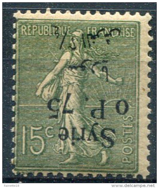 Syrie                129  **     Surcharge Renversée - Syria (1919-1945)