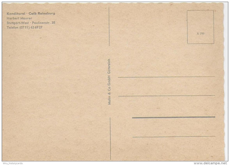 AK 0790  Konditorei-Cafe Reinsburg Herbert Maurer ( Stuttgart-West ) - Verlag Mohn & Co Um 1950-60 - Hotels & Gaststätten
