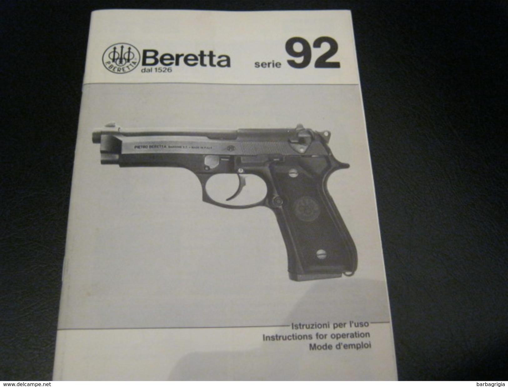 LIBRETTO BERETTA SERIE 92 - Autres