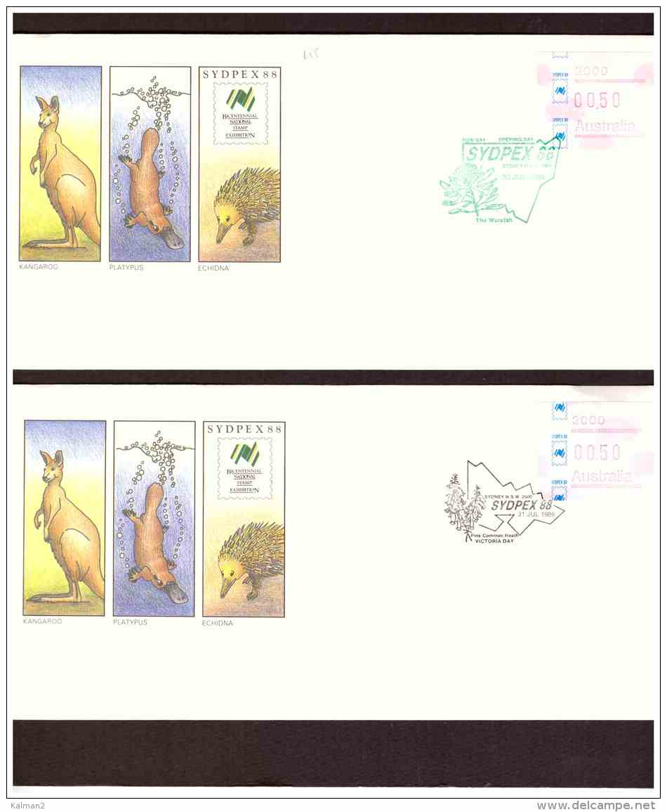 AU155   -  9   COVERS    WITH CANCELS   FROM 30 JUL. TO7 AUG.  1988   /   SYDPEX  88 - Esposizioni Filateliche