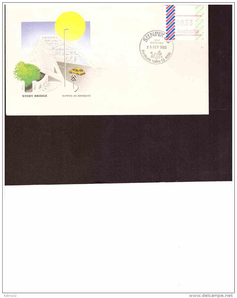 AU183   -   FDC   FRAMA  00.33   /    SUNPEX 85  -  FORTITUDE VALLEY  30 SEP  1985 - Primo Giorno D'emissione (FDC)