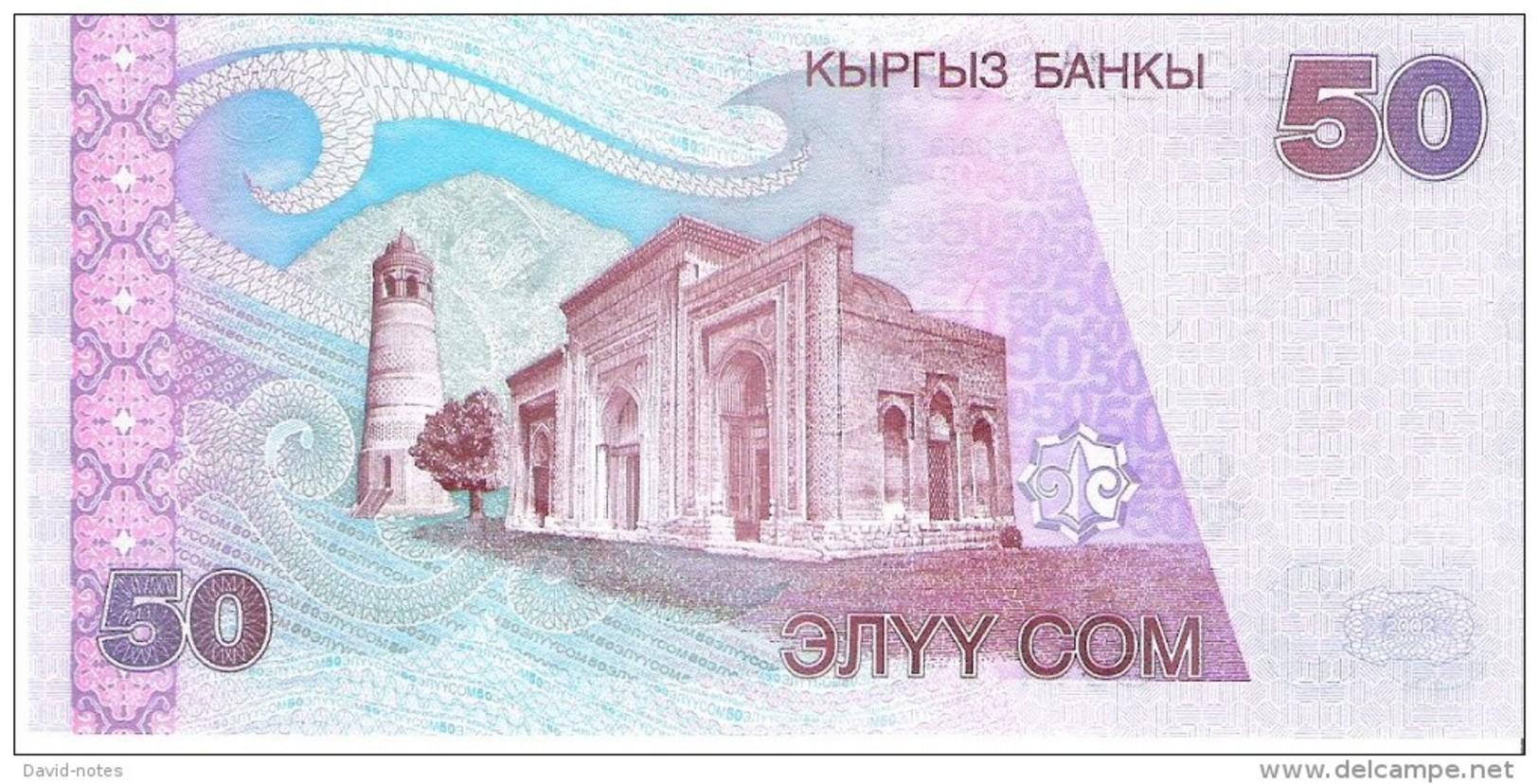 Kyrgyzstan - Pick 20 - 50 Som 2002 - Unc - Kirghizistan