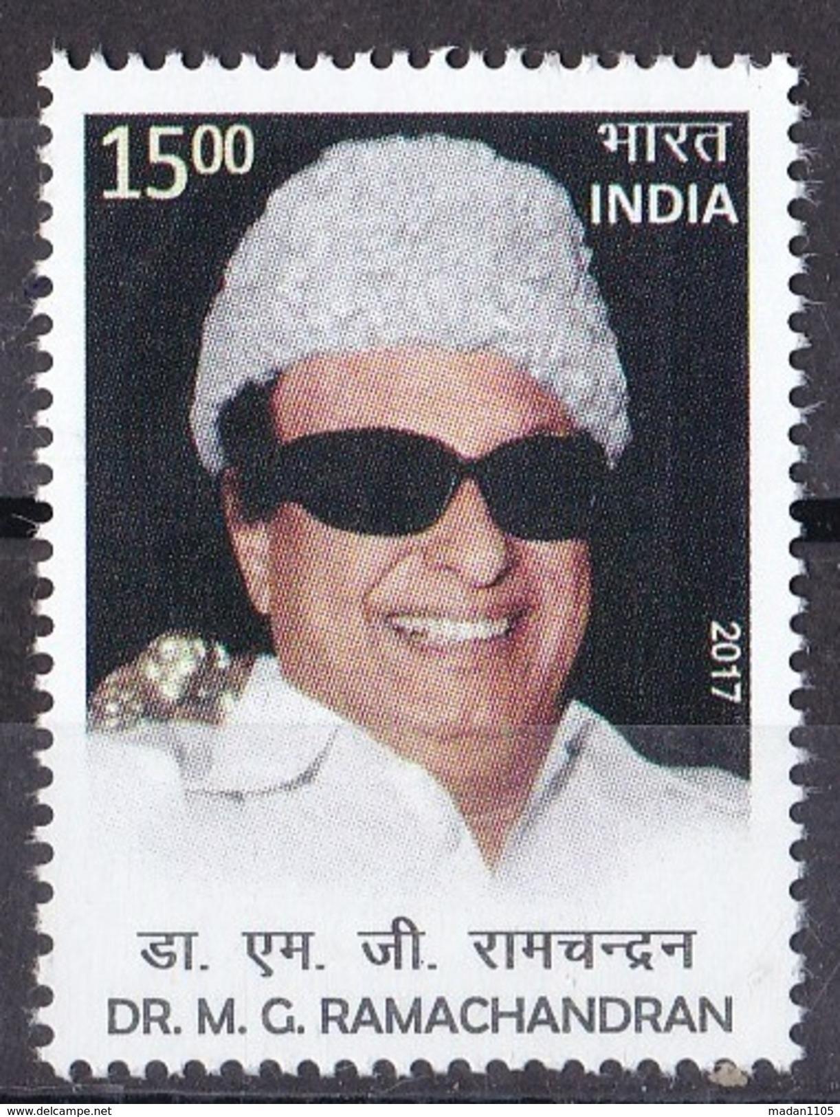 INDIA, 2017, M G Ramachandran, Actor, Politician, MNH, (**) - India