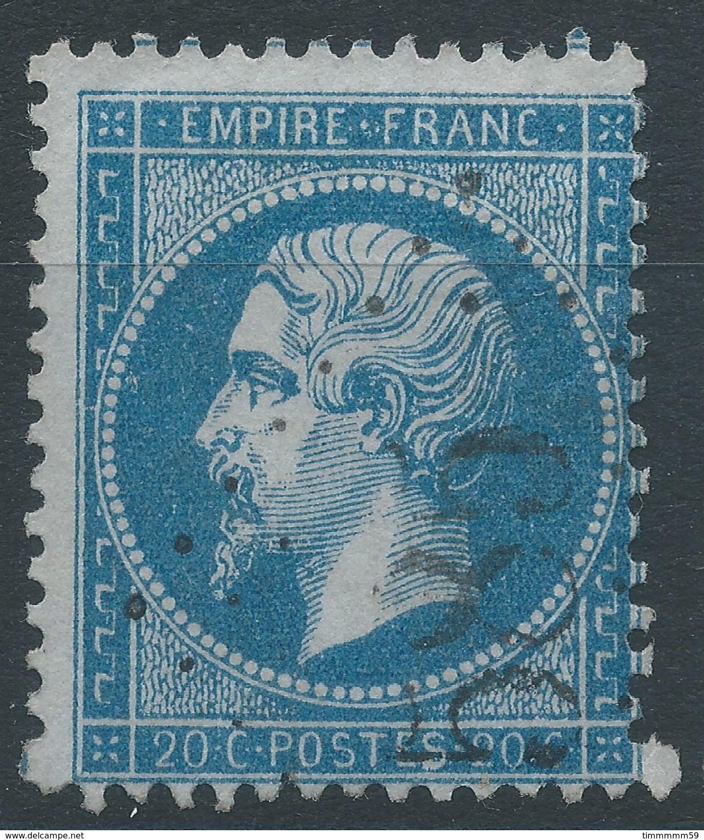 Lot N°38938  Variété/n°22, Oblit GC 585 Bourogne (66), Ind 5, Fond Ligné Horizontal, S De POSTES - 1862 Napoleon III