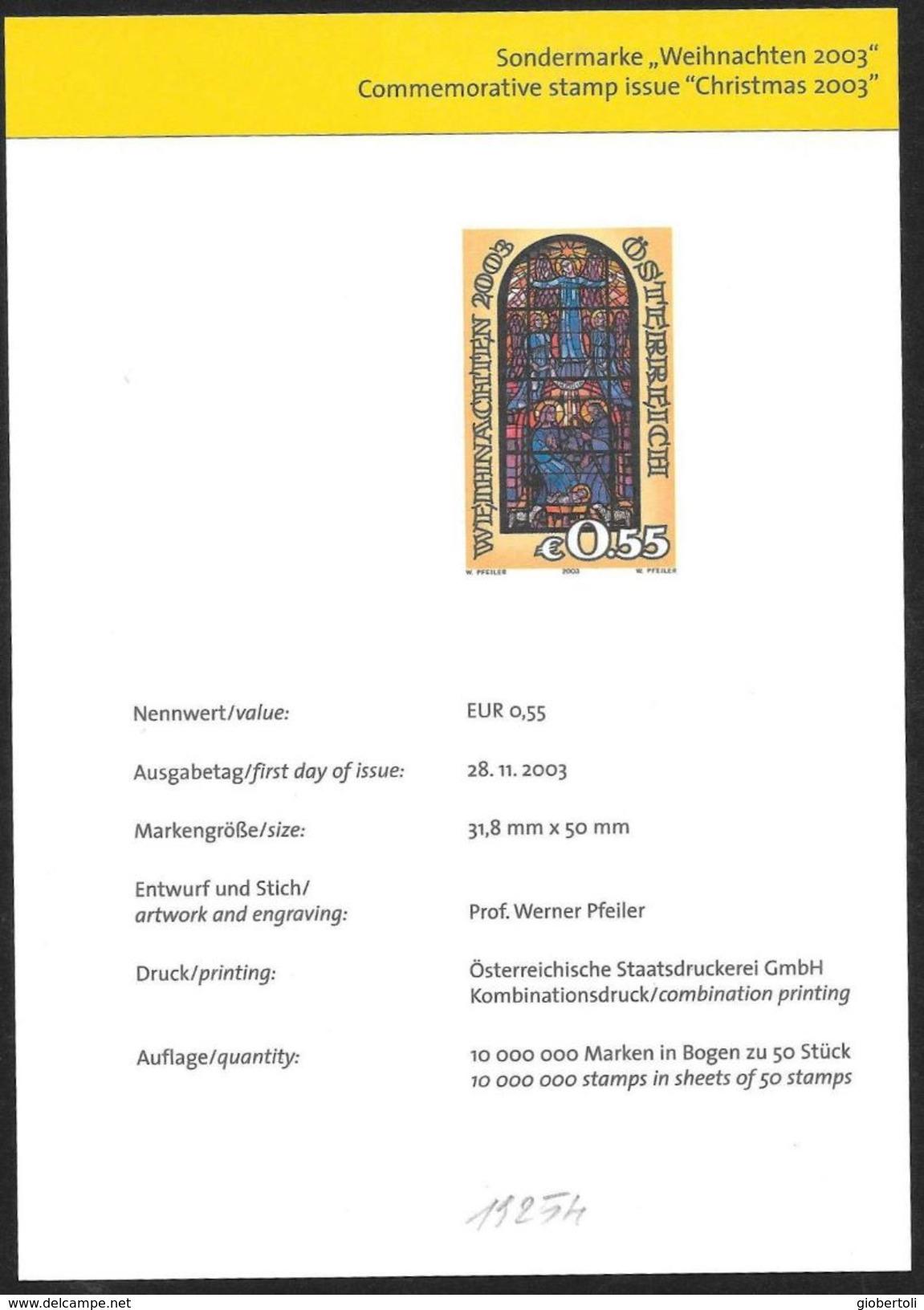 Austria/Autriche: Prova Per La Stampa, Proof For Printing, épreuve Pour L'impression, Natività, Nativity, Nativité - Vetri & Vetrate
