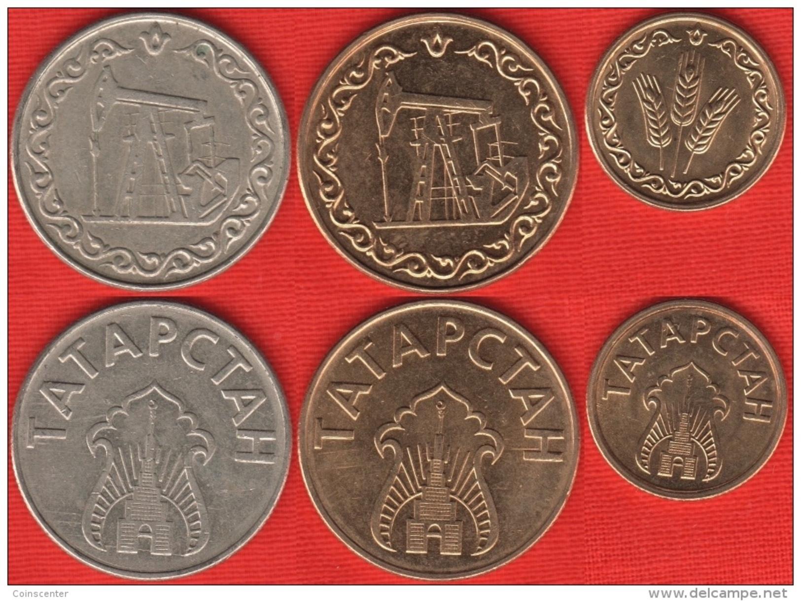 Tatarstan Full Set Of 3 Coins: 1 Kilo - 20 Litres Km#: Tn1, Tn2, Tn3 - Tatarstan