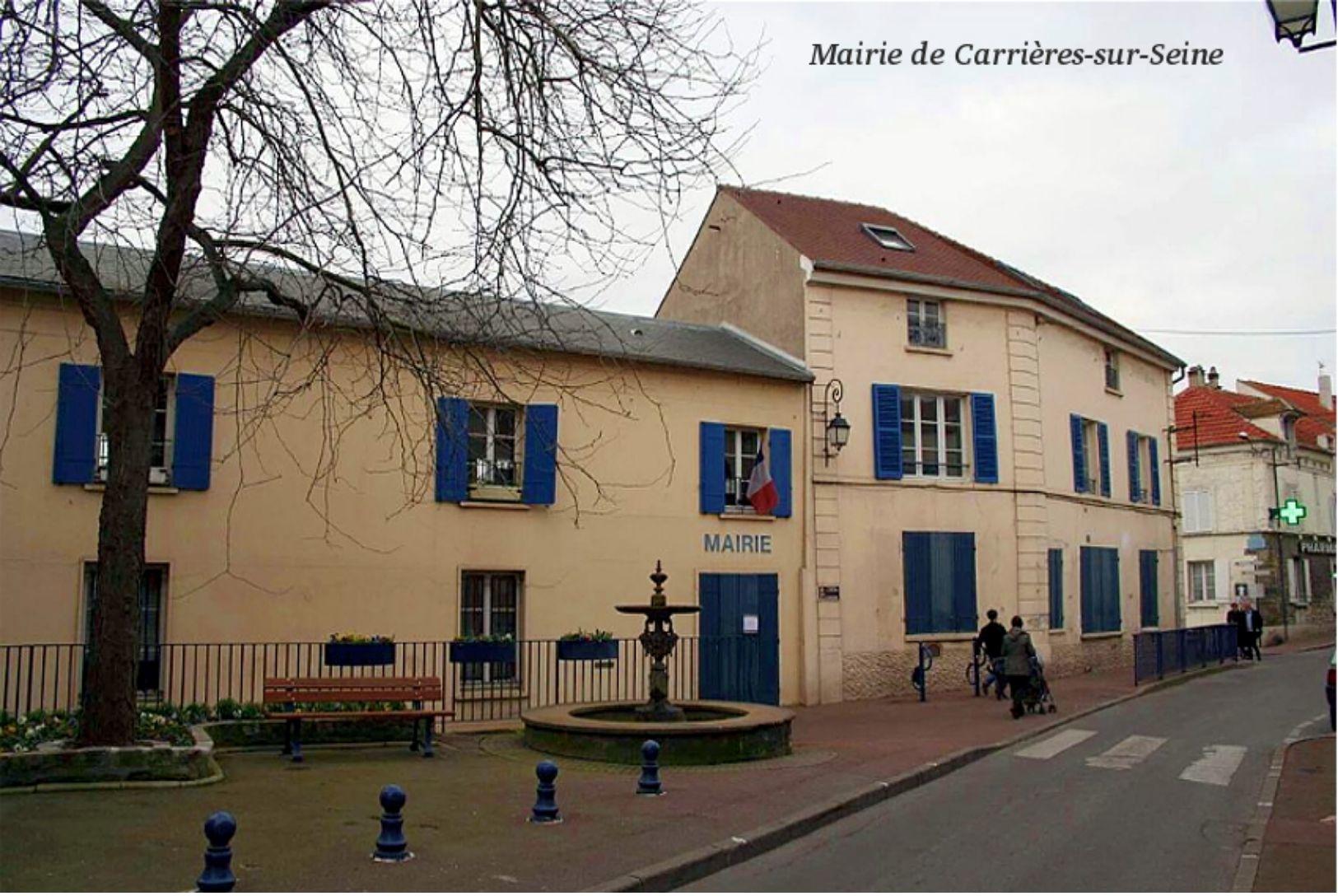 Mairie De Carrières-sur-Seine - Carte Photo Moderne - Carrières-sur-Seine