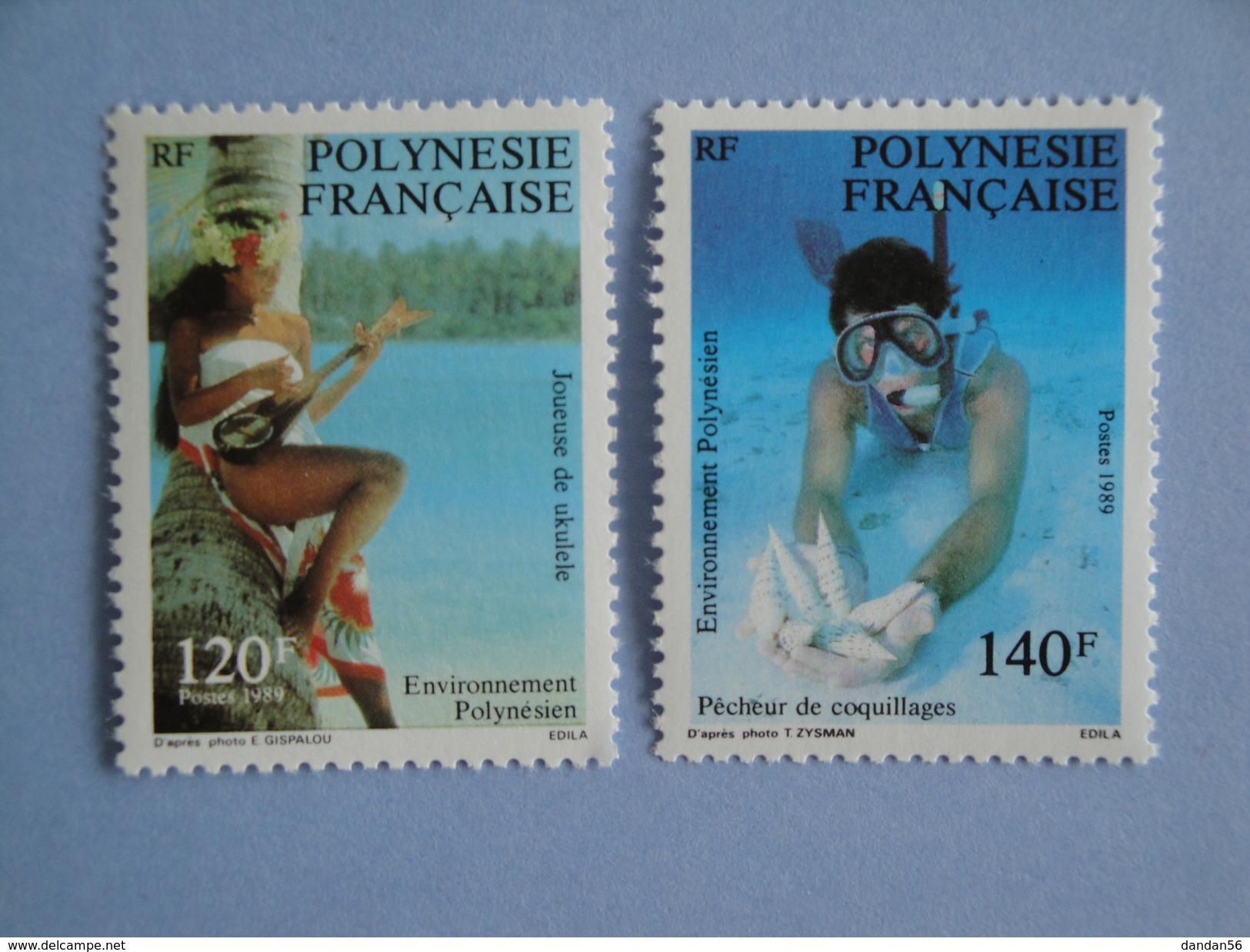 1989 Polynésie Française Yvert  331/2 **  Polynesian Life Scott 510/1  Michel 530/1  SG 560/1 - Neufs