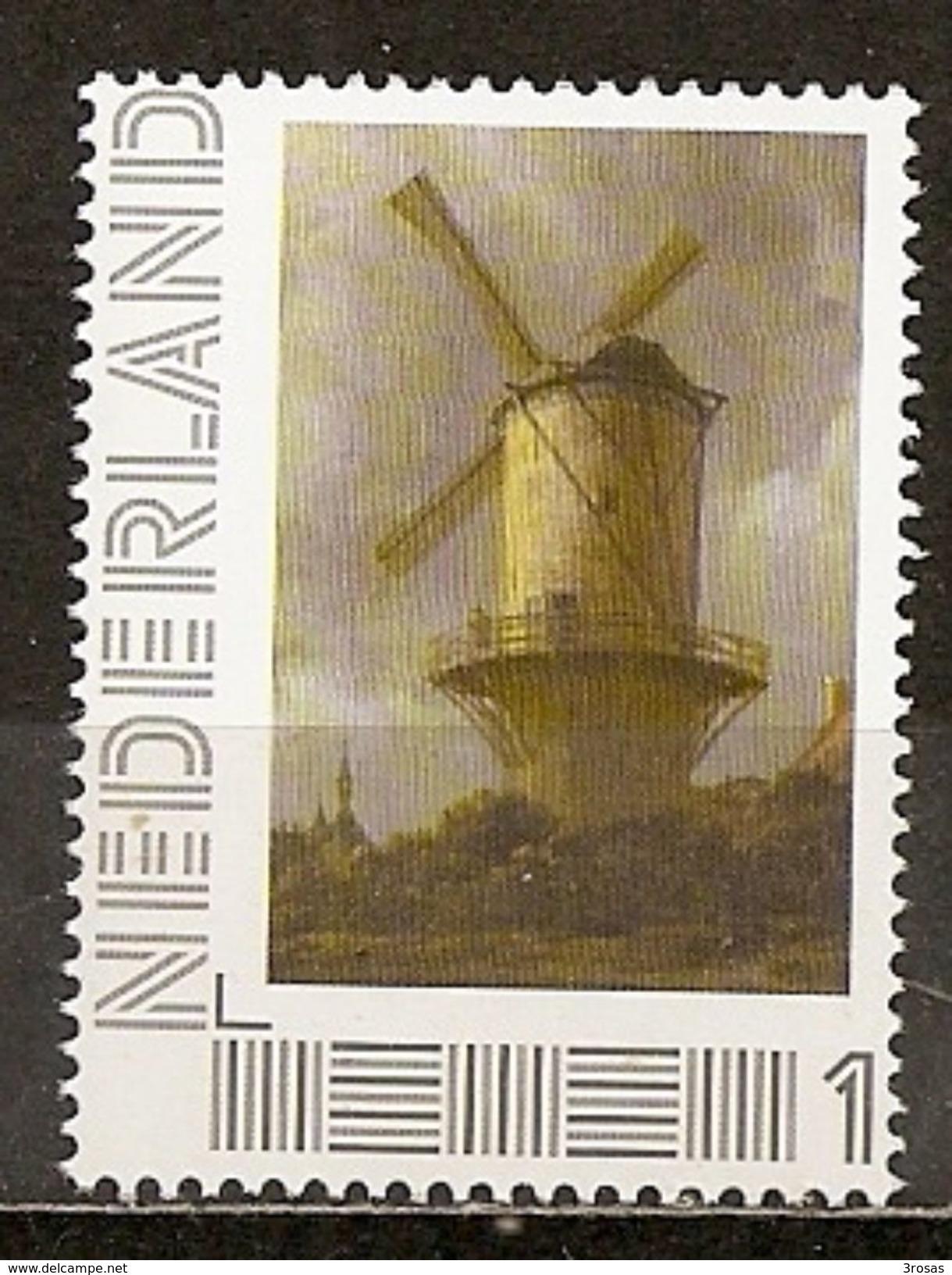 Pays-Bas Netherlands 201- Moulin Peinture Van Ruysdael Painting Windmill MNH ** - Period 2013-... (Willem-Alexander)