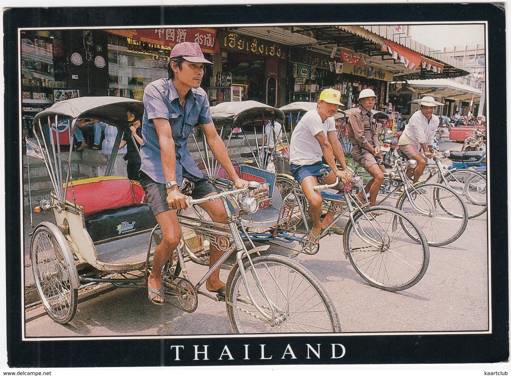 Bangkok: 4x RICKSHAW / TRICYCLE TAXI - (Thailand) - Taxis & Fiacres