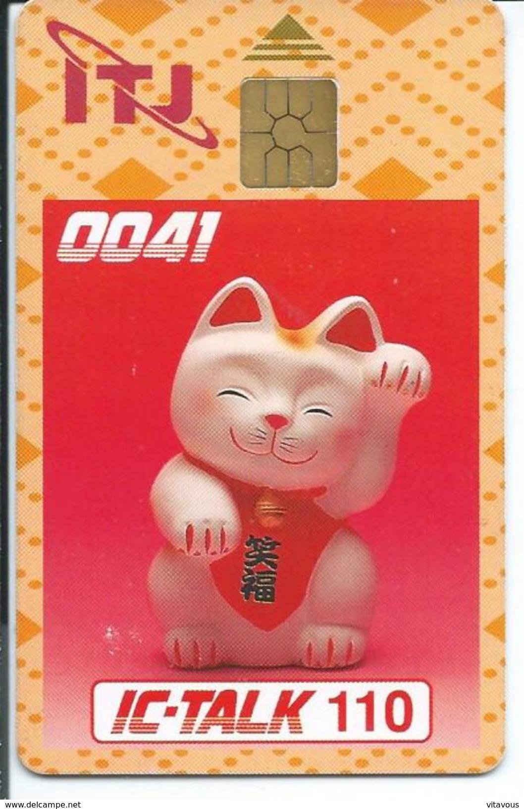 Chat Cat  Télécarte Puce Animal Phonecard  (D 178) - Chats