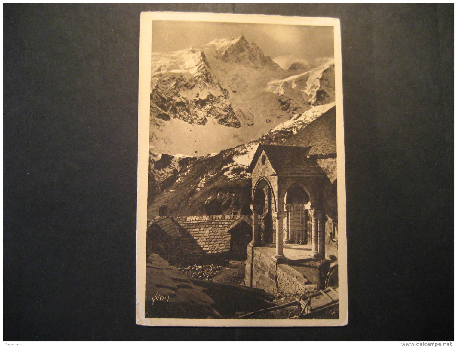 MEIJE Terrasses Eglise Romane Mountain Mountains Hautes Alpes Post Card France - Autres Communes