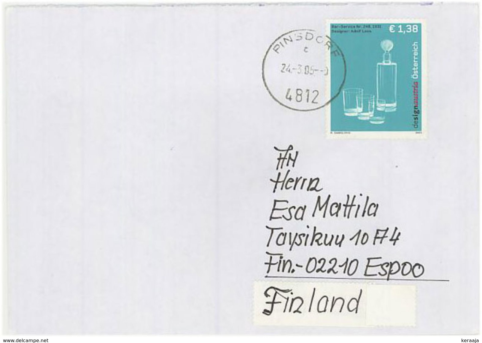 Austria/Österreich 2005 Cover To Finland - 1945-.... 2nd Republic