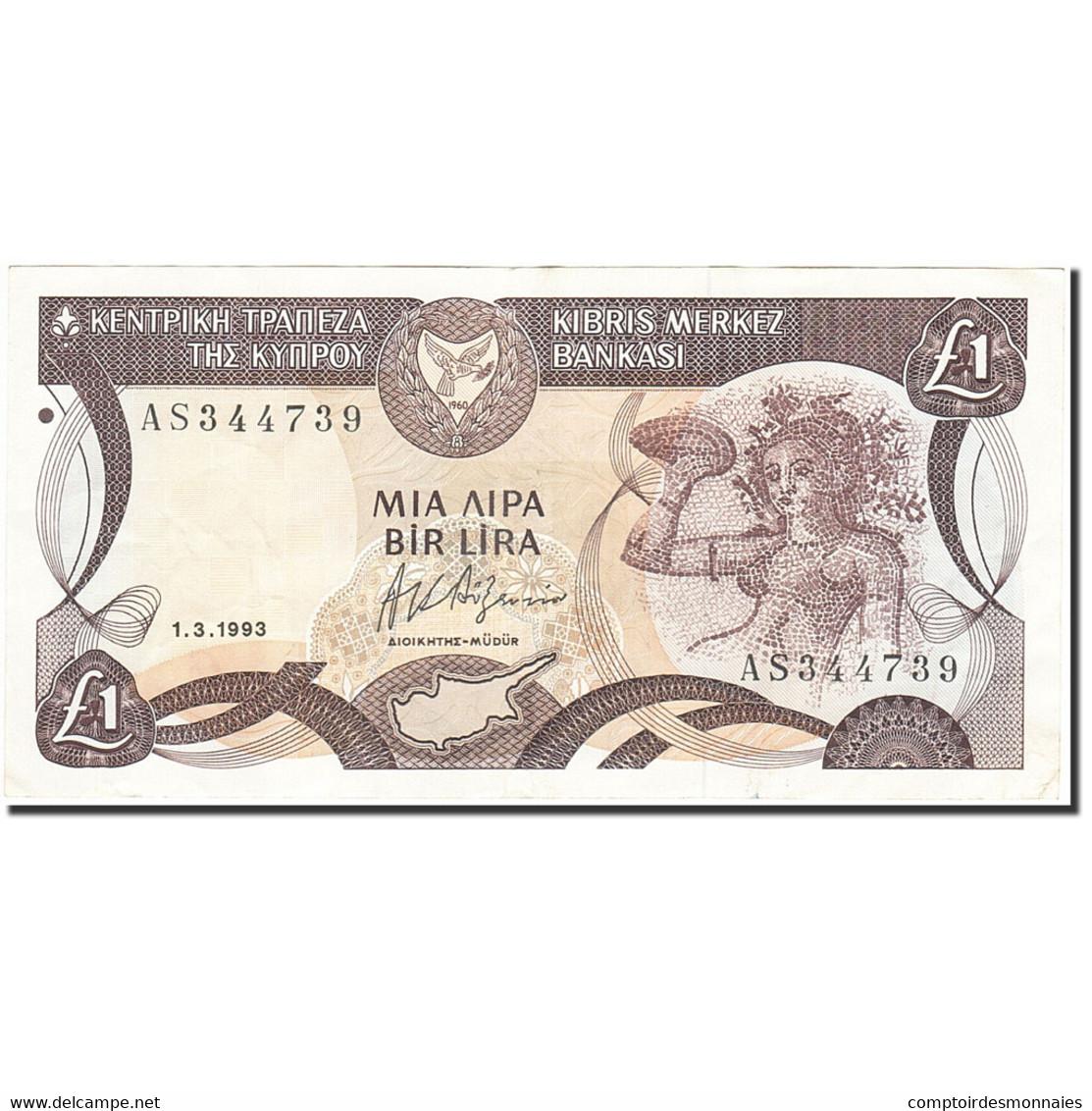 Chypre, 1 Pound, 1987-1992, 1993-03-01, KM:53c, TTB - Chypre