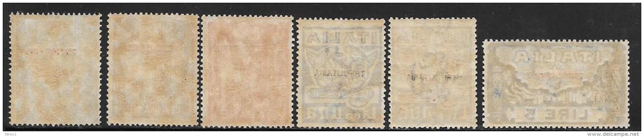 Tripolitania, Scott # 5-10 Mint Hinged Italy Fascisti Issue Overprinted, 1923 - Tripolitania