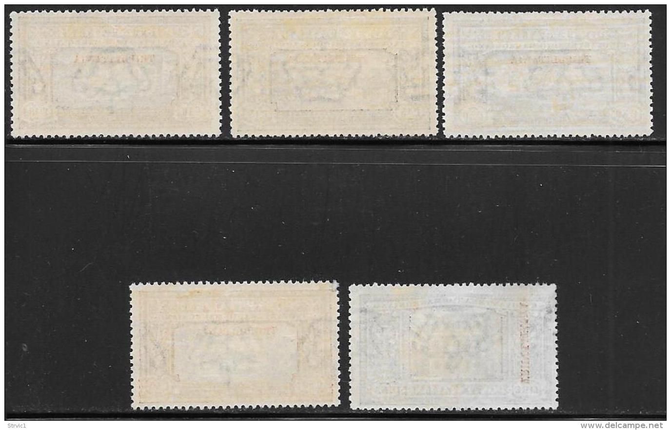 Tripolitania, Scott # 11-6 Mint Hinged Italy Manzoni Issue Overprinted, 1924, #16 Has Gum Disturbance On Left Side, - Tripolitania
