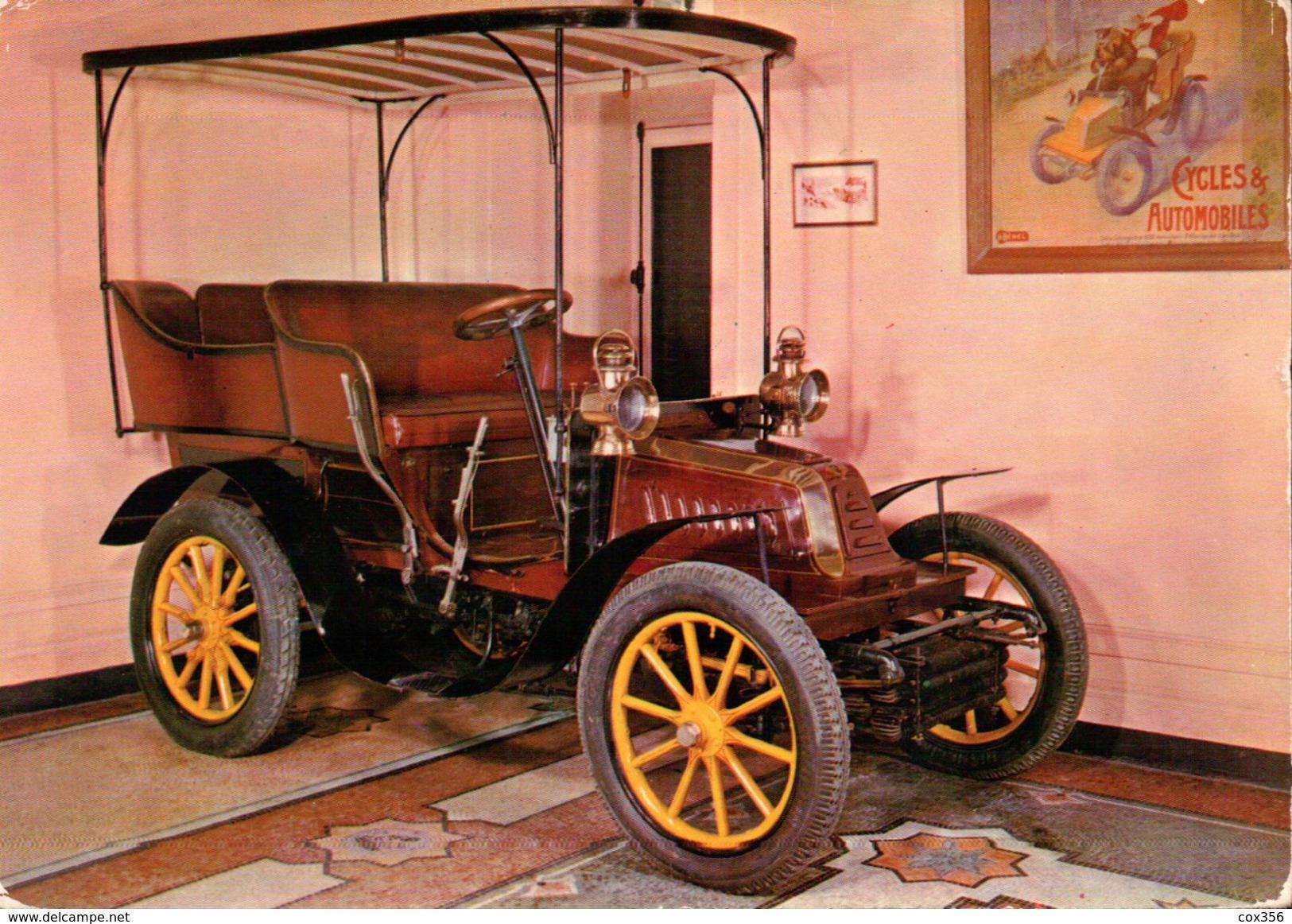 CPSM  AUTOMOBILES GEORGES RICHARD 1902 TONNEAU AVEC DAIS - Taxi & Carrozzelle