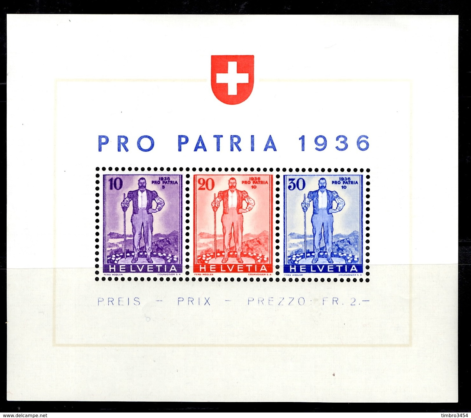 Suisse Bloc-feuillet YT N° 2 Neuf ** MNH. TB. A Saisir! - Blocs & Feuillets