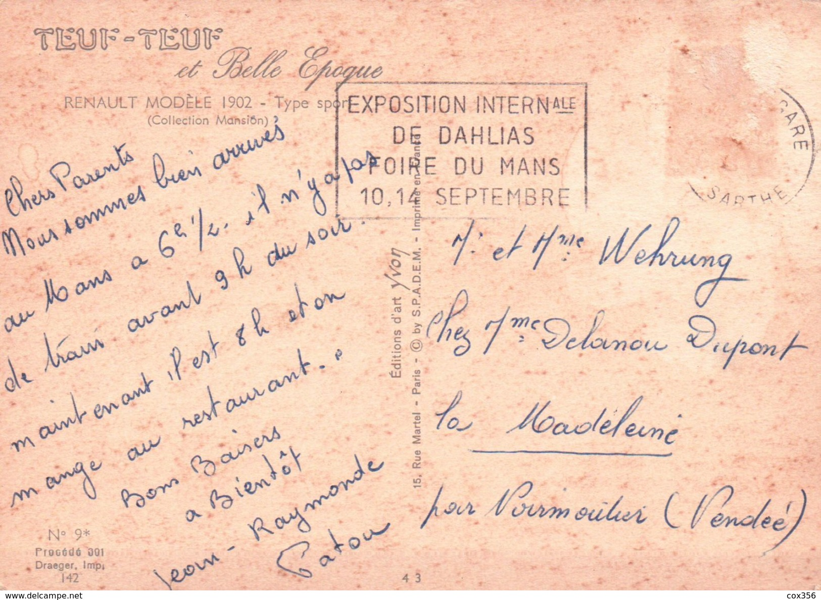 CPSM  AUTOMOBILES RENAULT 1902 - Taxi & Carrozzelle