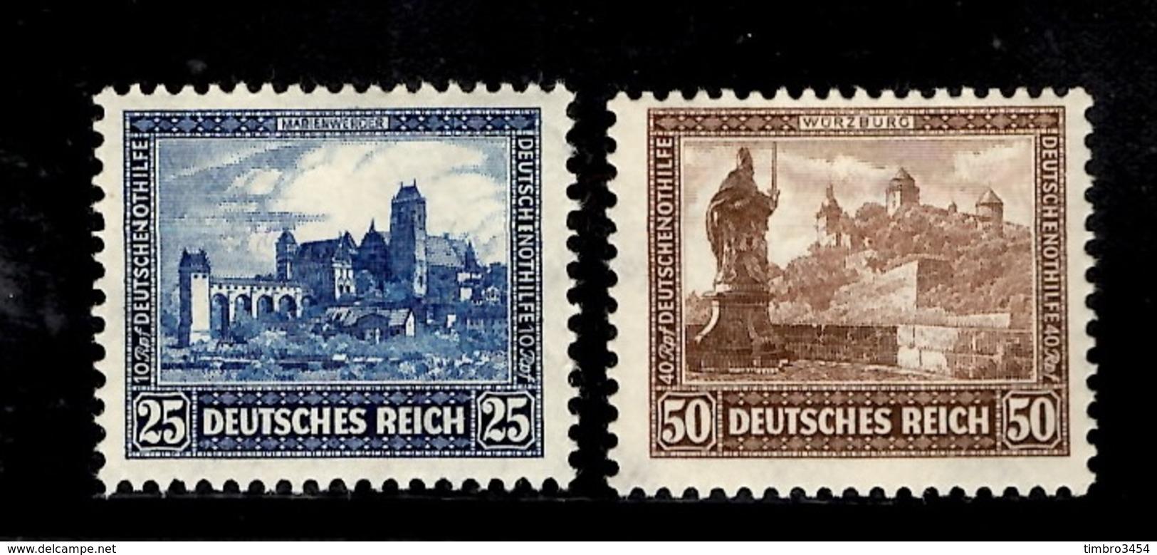 Allemagne/Reich YT N° 433/434 Neufs ** MNH. TB. A Saisir! - Allemagne