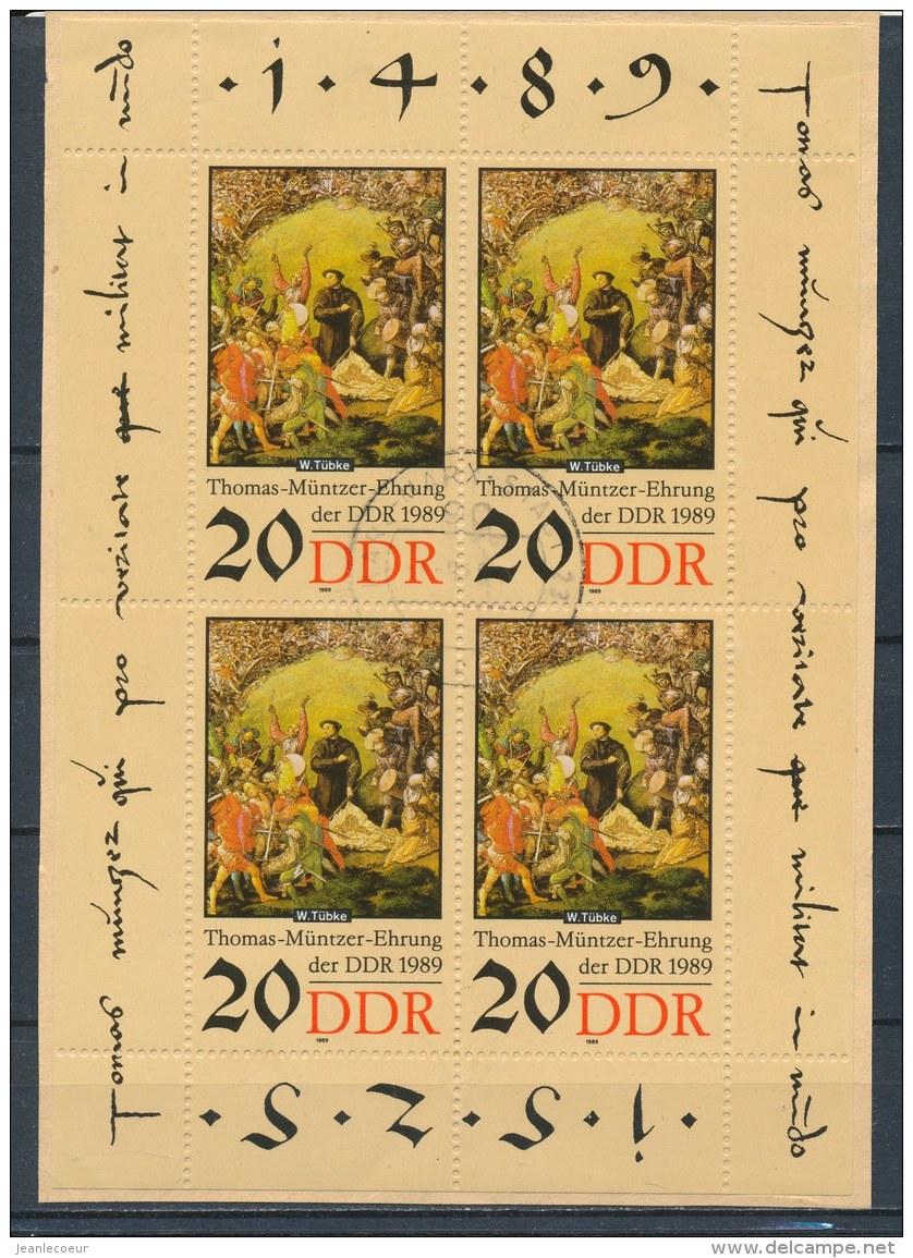 DDR/East Germany/Allemagne Orientale 1989 Mi: Kb 3271 Yt:  (Gebr/used/obl/o)(2801) - [6] Oost-Duitsland