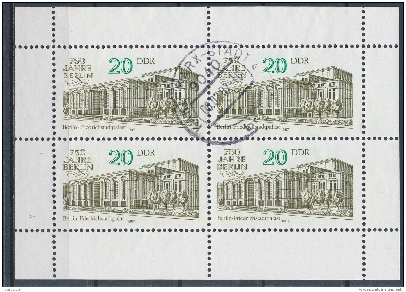 DDR/East Germany/Allemagne Orientale 1987 Mi: Kb 3078 Yt:  (Gebr/used/obl/o)(2808) - [6] Oost-Duitsland