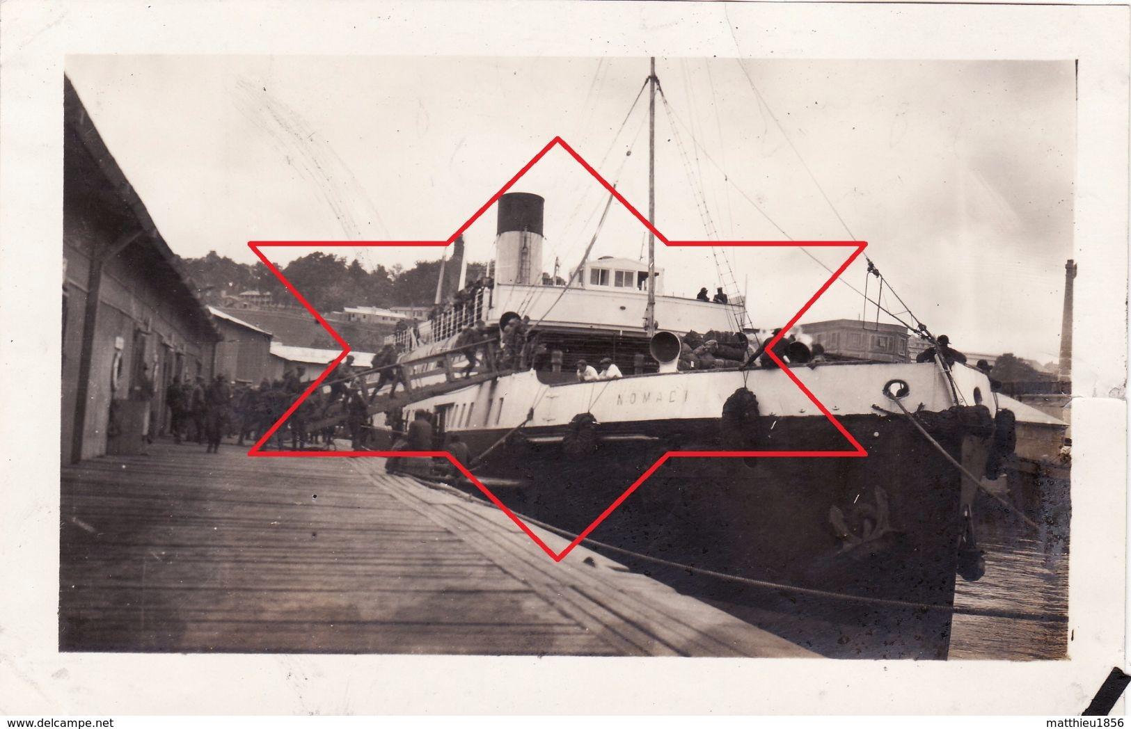 Photo 1919 BREST ?? (Cherbourg ??, Saint Nazaire ??) - Le Bâteau Transbordeur SS NOMADIC (A182, Ww1, Wk 1) - Bateaux