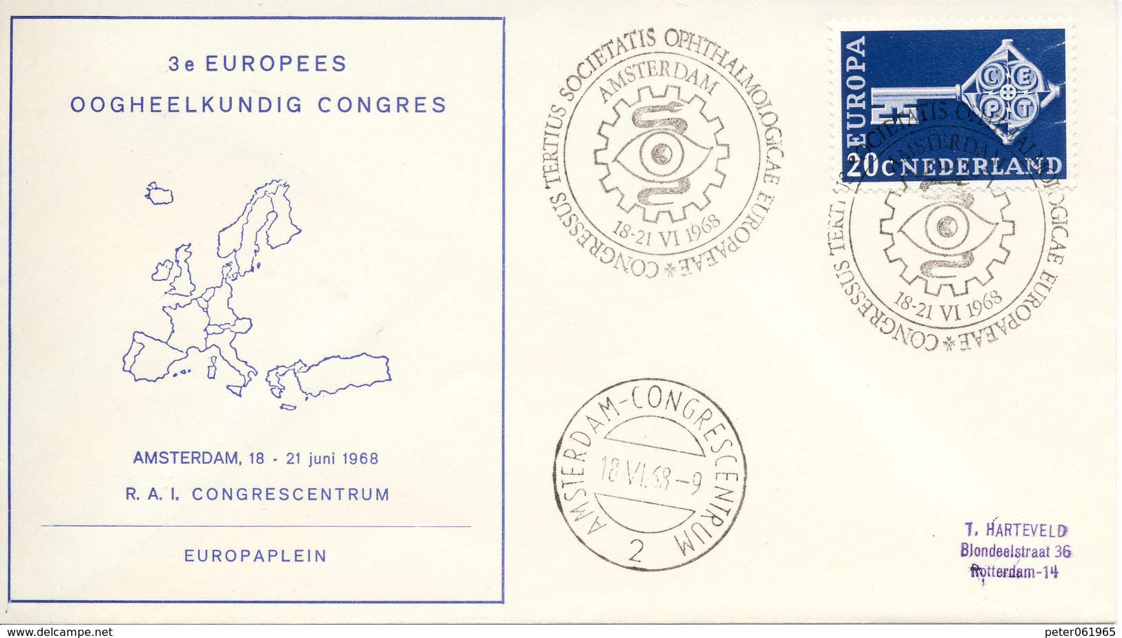 Trompet Envelop Nr. S10 (1968) - Period 1949-1980 (Juliana)