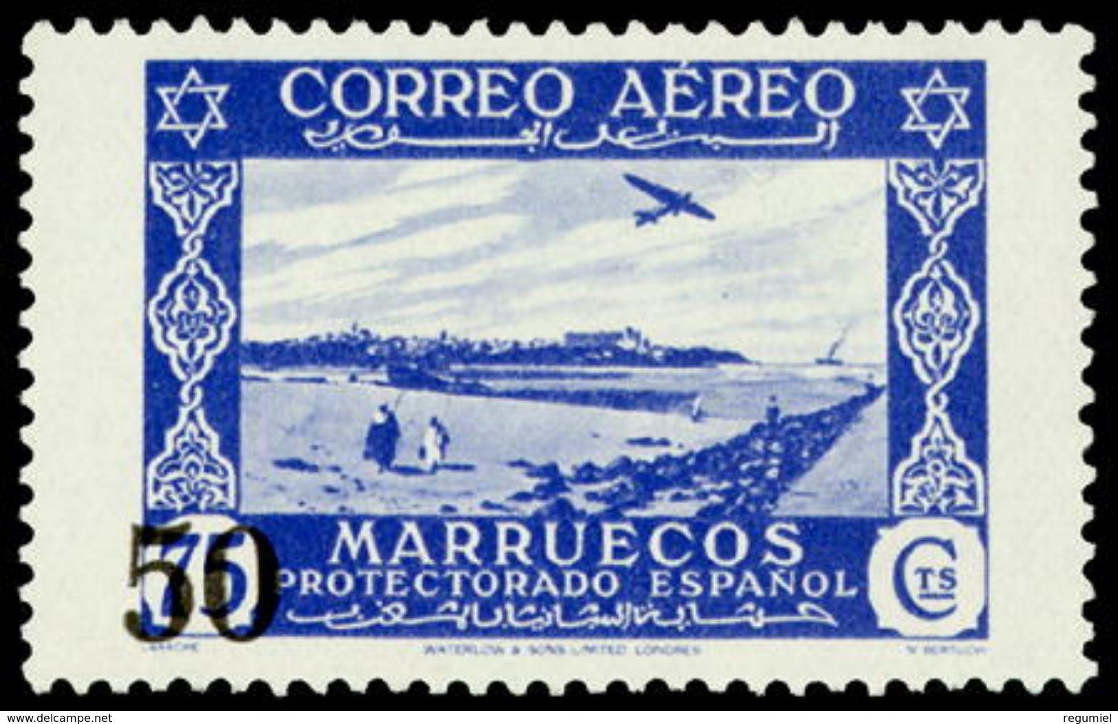Marruecos 373 * Paisajes. 1953 Charnela - Spanisch-Marokko