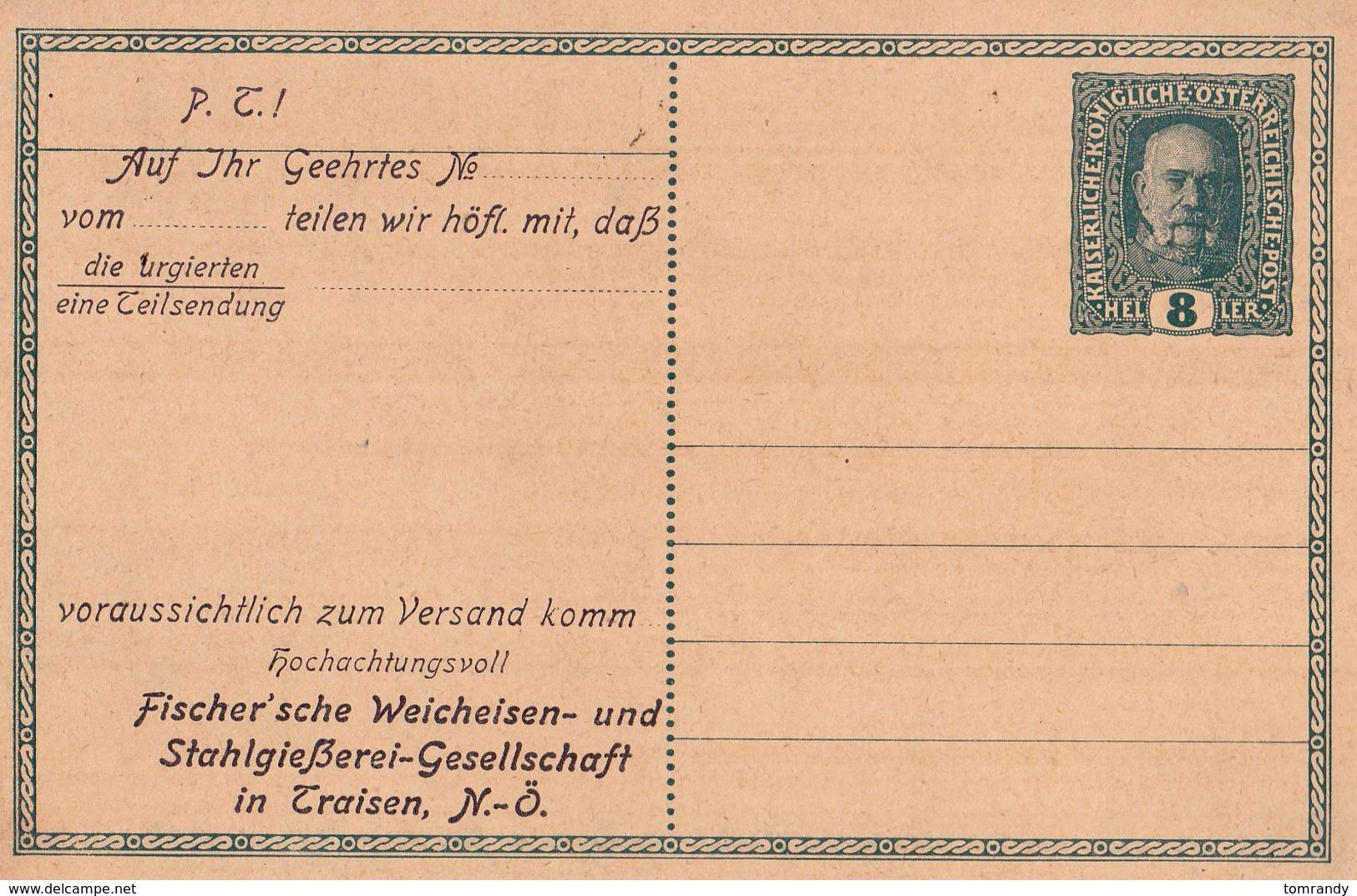 Traisen, Österreich, 1916  Fischer'sche Weicheisen - Briefe U. Dokumente
