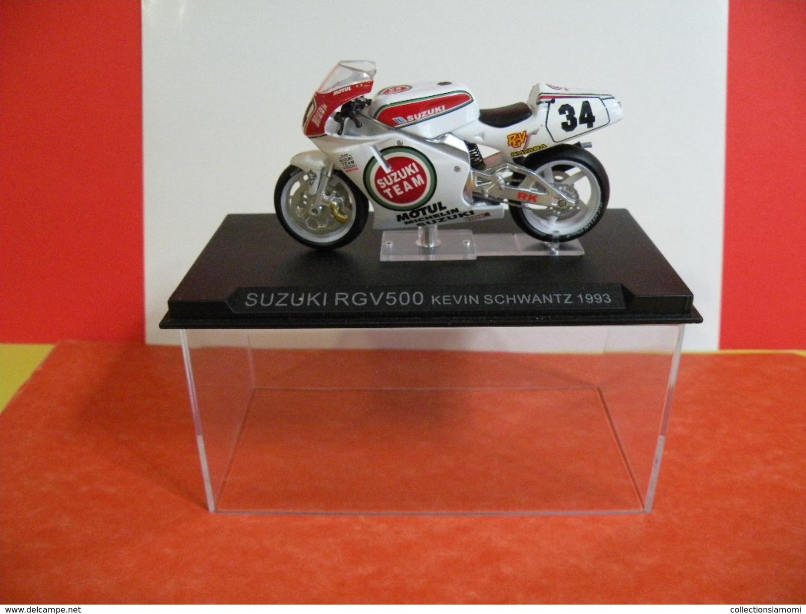 MOTO 1/24 > Suzuki RGV 500 Kevin Schwantz 1993 (sous Vitrine) - Motos