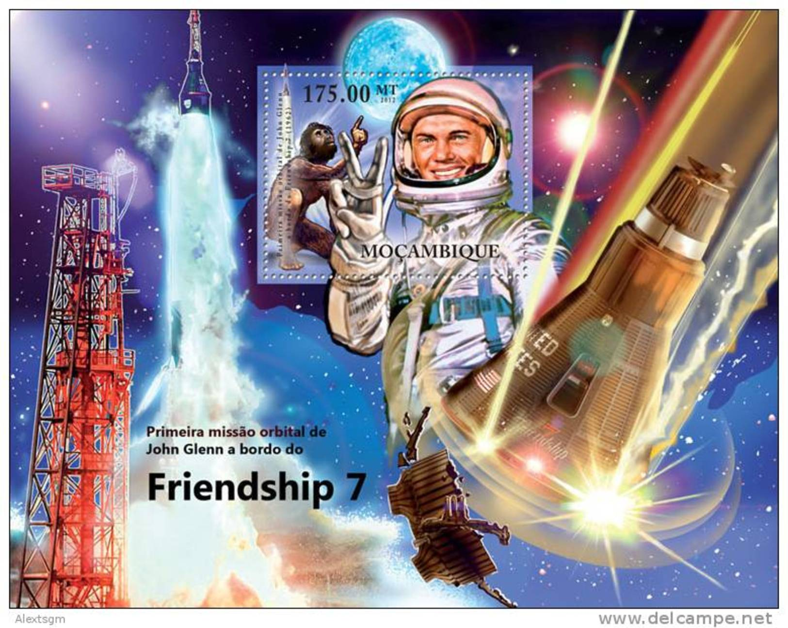 MOZAMBIQUE 2012 - Friendship 7, Prehistoric Man - YT BF543 - Prehistorie