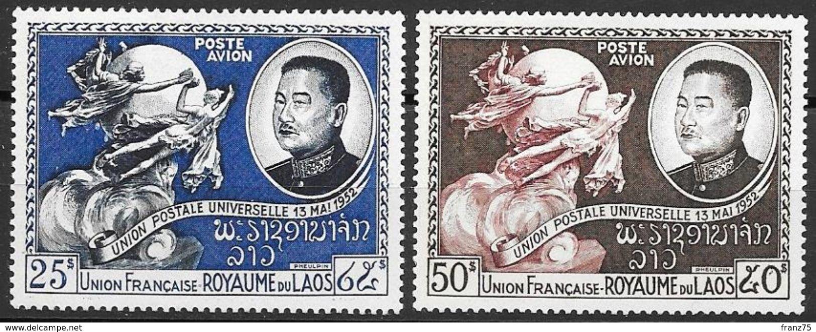 LAOS ( Royaume)-P.A.1952-YT N°s 5 Et 6 -NEUFS X - Laos