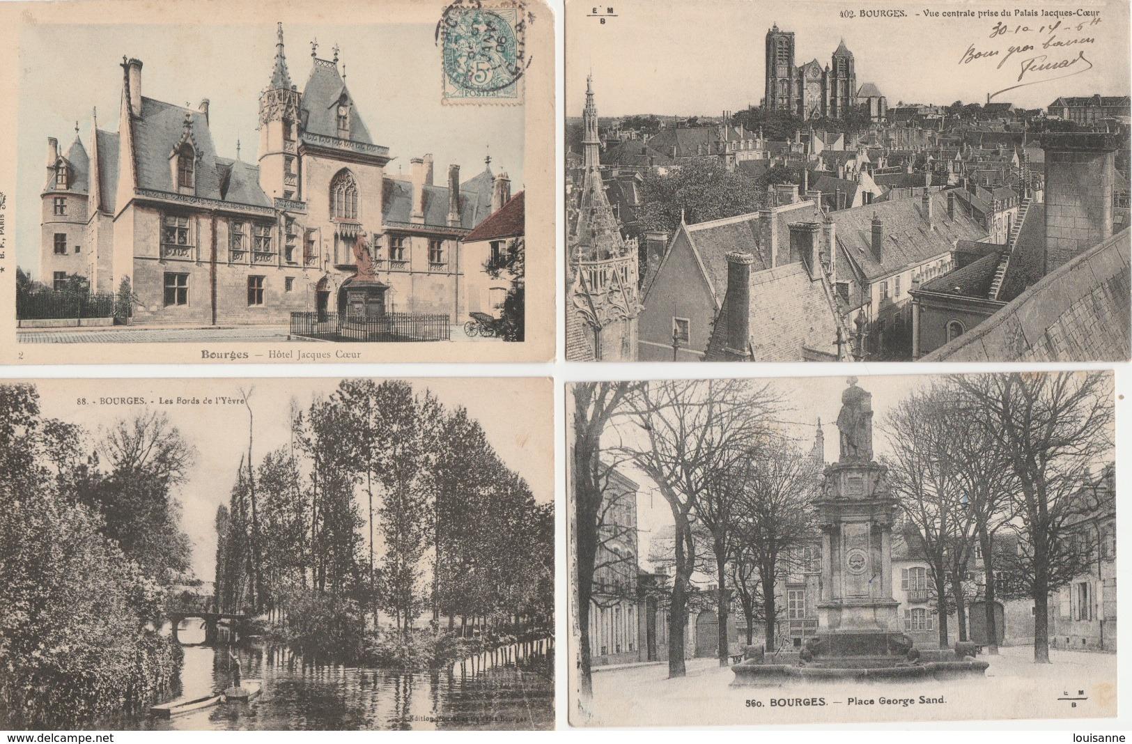 17 / 11 / 181  -  LOT  DE  28  CPA  DE  BOURGES  ( 18 )  Toutes  Scanées - Cartoline
