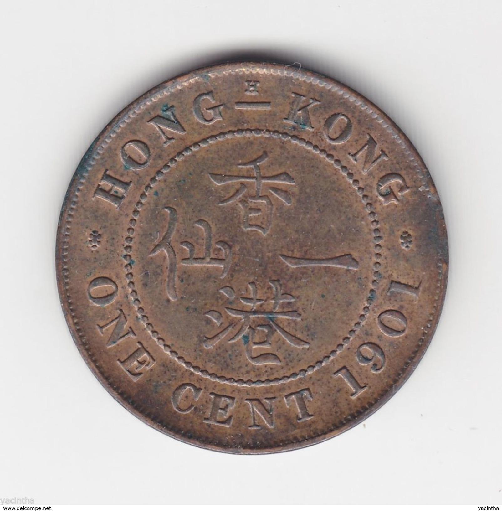 @Y@  1901 Hong Kong (British) 1 Cent Coin Victoria KM#4.3 (3116) - Hong Kong