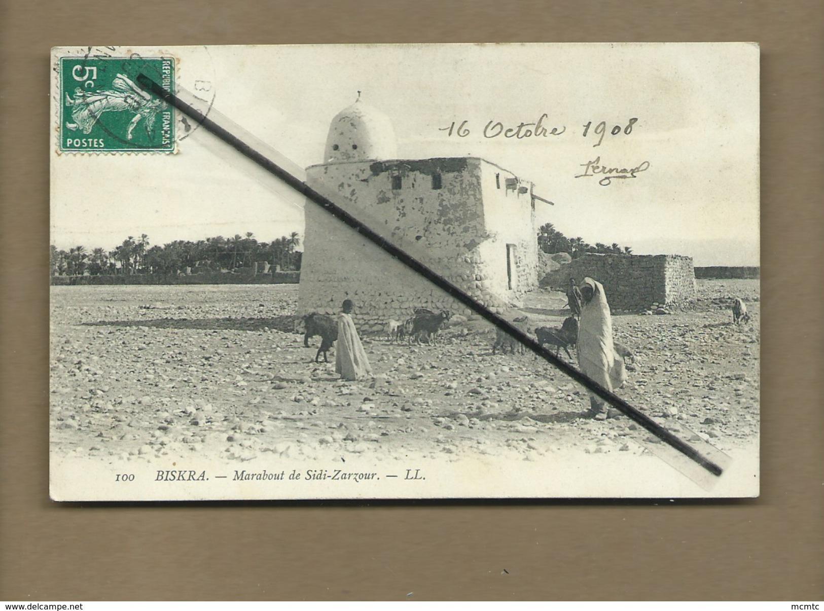 CPA -   Algérie - Biskra - Marabout De Sidi Zarzour - Biskra