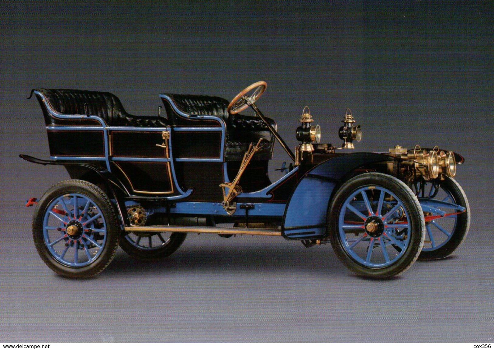 CPSM  AUTOMOBILES PEUGEOT DOUBLE PHATEON 1906 TYPE 78 A - Taxi & Carrozzelle