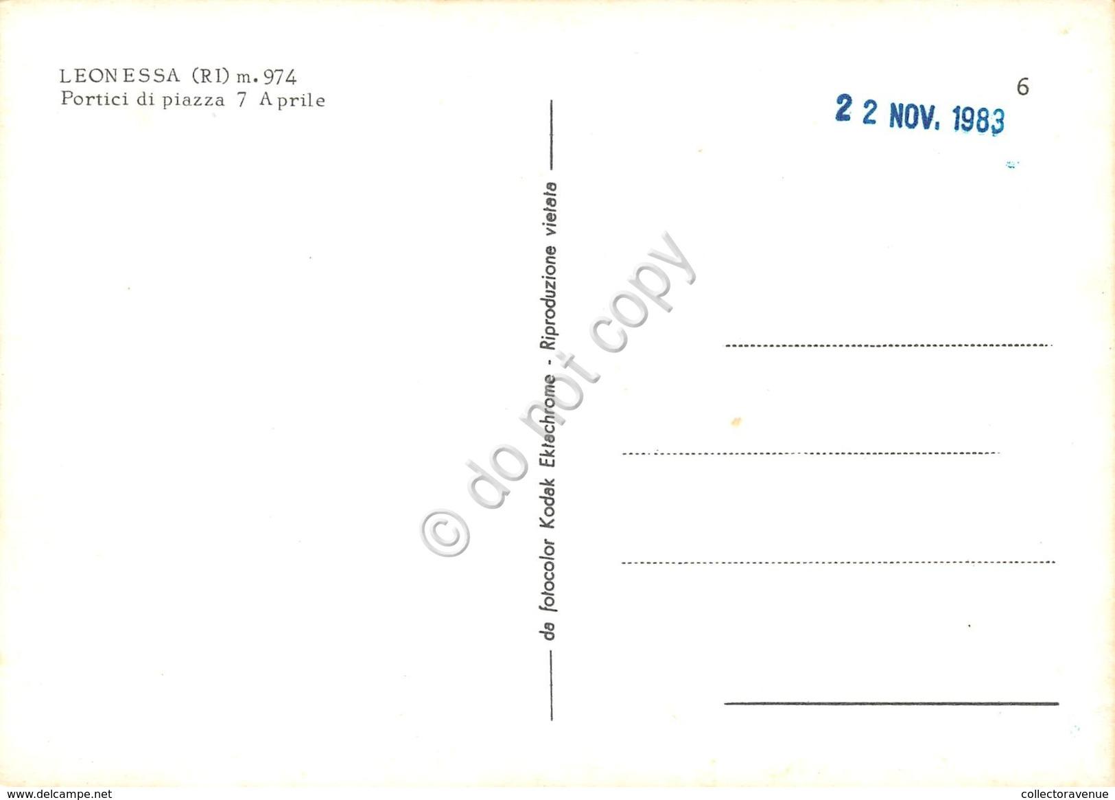 Cartolina Leonessa Portici Di Piazza 7 Aprile - Rieti