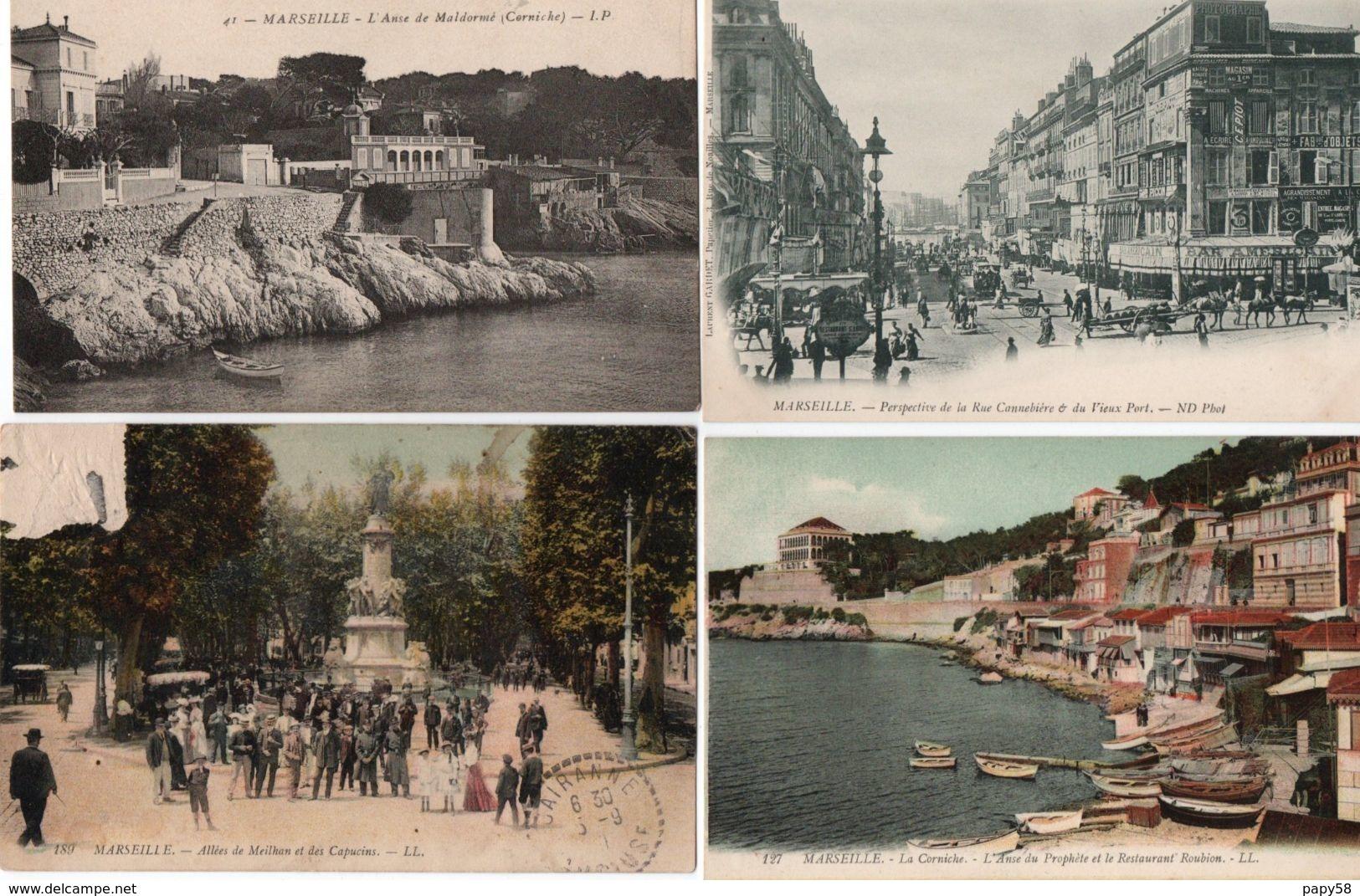 [13] Bouches-du-Rhône > Marseille > Non Classés  Lot De 12 Cartes - Marseille
