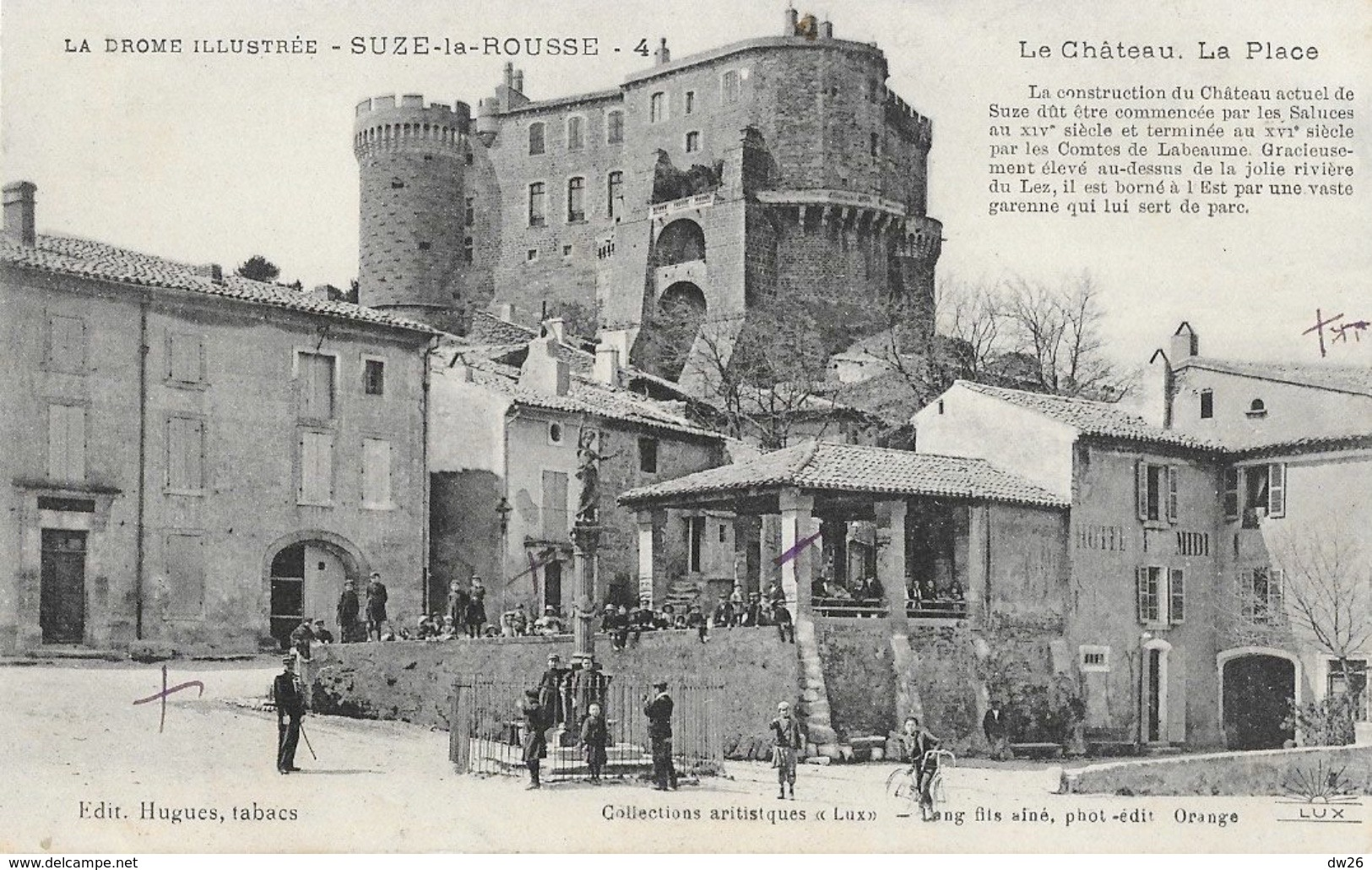 Suze La Rousse (La Drôme Illustrée) - Le Château, La Place - Edition Lang, Collections Artistiques Lux - Francia