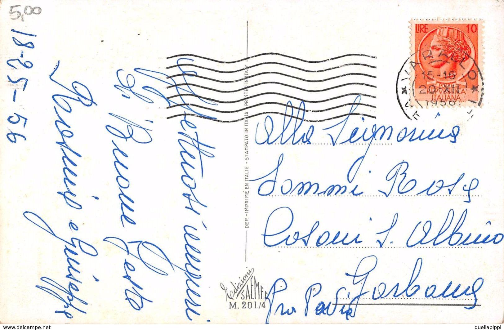 """D7036 """"BUON NATALE"""" ANIMATA, BAMBINI CHE INTONANO CORI, VIOLINO, FLAUTO. CART  SPED 1956 - Natale"""
