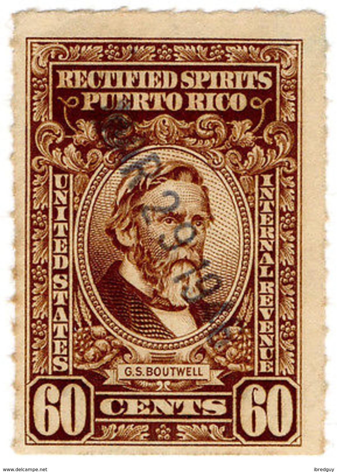 (I.B) Puerto Rico Revenue : Rectified Spirits 60c - United States