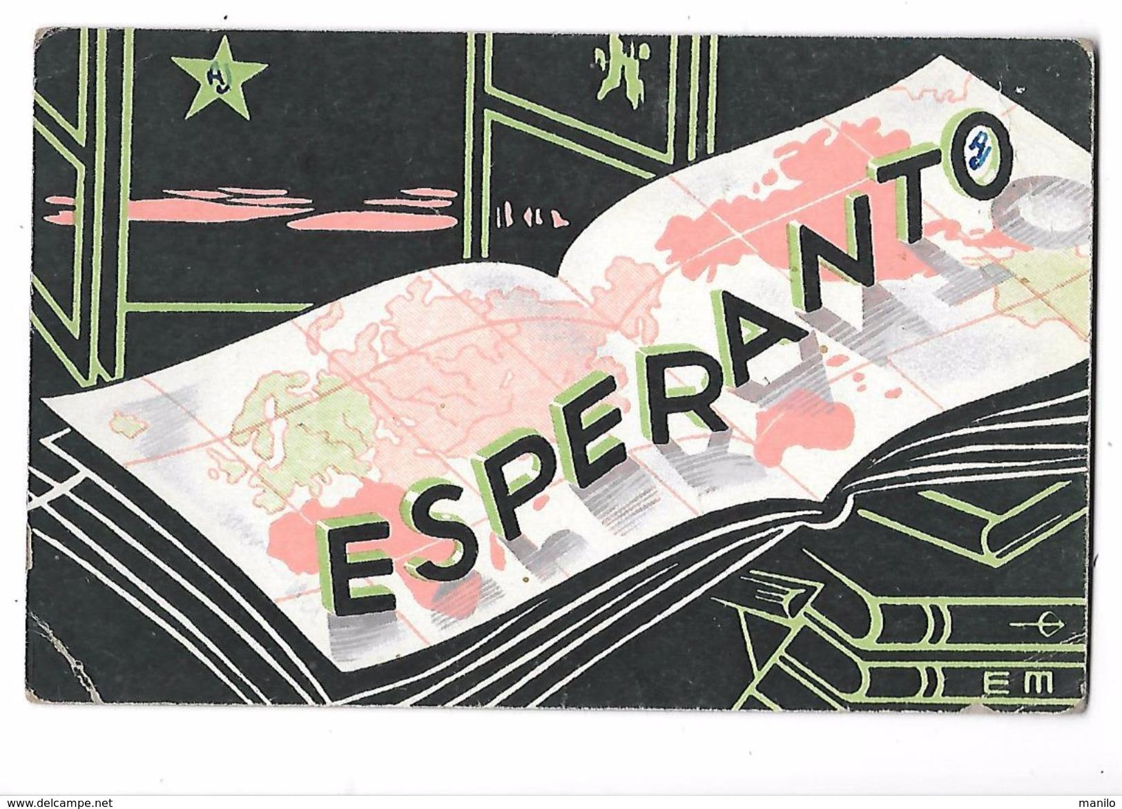 ESPERANTO -  Carte De Propagande écrite En Espéranto  De Nice En 1946 -edit UNION ESPERANTISTE DE FRANCE Paris - Esperanto